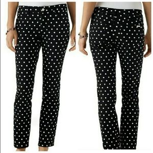White House Black Market Polka Dot Slim Jeans